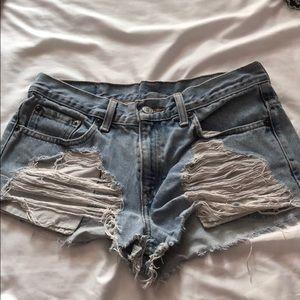 LF ripped Furst of a Kind Jean shorts